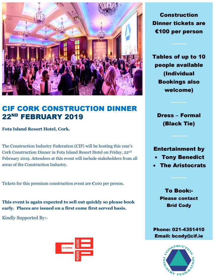 CIF Cork Construction Dinner